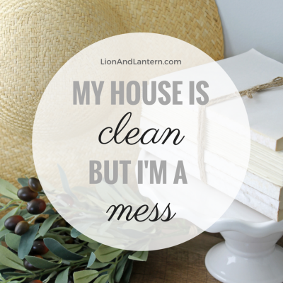 Read My House Is Clean, But I'm A Mess at LionAndLantern.com. Christian stay at home mom, homemaker, neat freak.