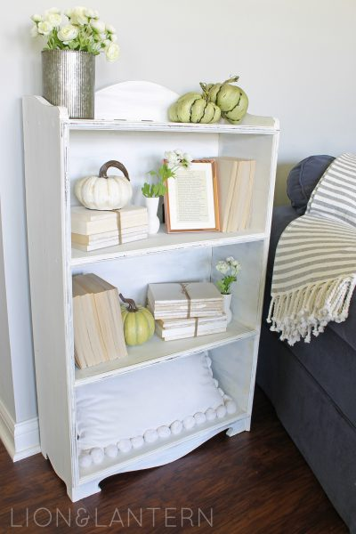 Cozy Autumn Bookcase