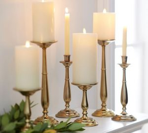 Wooden Turned Candlesticks at LionAndLantern.com. Farmhouse candlestick, candle holder, turned candle holder, rustic candle stick