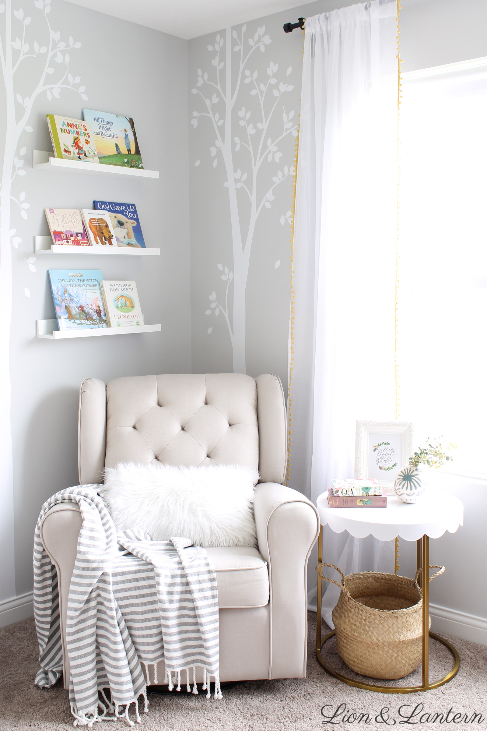 Narnia Inspired Sweet & Bright Nursery Tour At Lionandlanterncom -