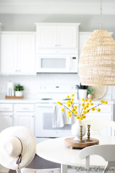 Fall Kitchen & New Textured Pendant Light