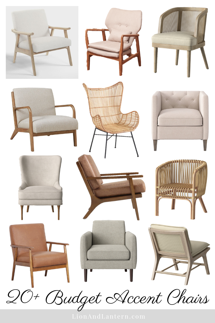 20+ Budget Accent Chairs for the Casual, Modern, and Neutral Home at LionAndLantern.com | neutral furniture, coastal modern style, bright and airy home, budget friendly, minimalist style, simple decor, budget decor